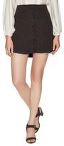 Free People Walk My Way Linen Mini Skirt