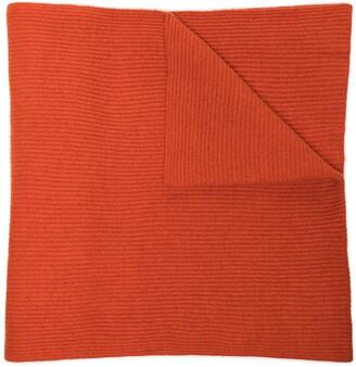 Ganni Ribbed-Knit Long Scarf