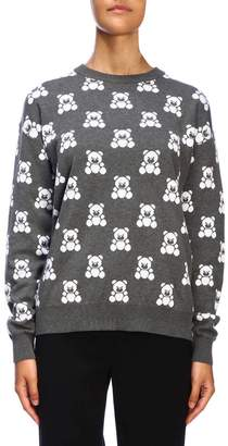 Moschino Sweater Crew-neck Pullover With All Over Teddy