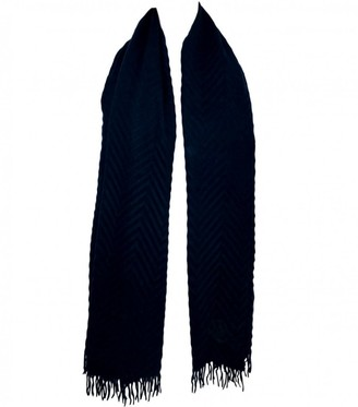 Alexander McQueen Navy Cashmere Scarves