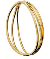 Gold Wavy Bangle Set