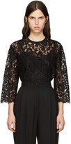 Dolce & Gabbana Black Macrame Lace Top