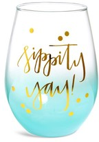 Slant Sippity Yay Stemless Wine Glass