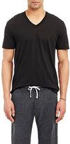 James Perse Men's V-neck T-shirt-BLACK