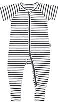 Bonds Baby Zip Wondersuit Striped Sleepsuit, Black/White