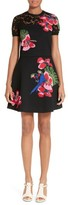 Valentino Women's Lace Inset Tropical Dream Knit Dress