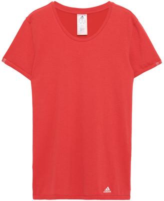 adidas Mesh-paneled Cotton-blend Jersey T-shirt