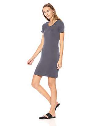 Amazon Brand - Daily Ritual Women's Jersey Short-Sleeve Scoop Neck T-Shirt Dress