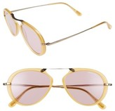 Tom Ford Women's 'Aaron' 53Mm Sunglasses - Dark Havana/ Green