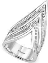 Effy Geo by Diamond High-Style Ring (1/5 ct. t.w.) in Sterling Silver