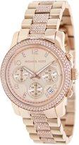 Michael Kors Women's Glitz MK5827 Rose-Gold Stainless-Steel Quartz Watch with Rose-Gold Dial