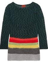 Missoni Striped Crochet-Knit Cotton-Blend Tunic