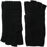 Calvin Klein Asymmetric Moss Stitch Fingerless Gloves