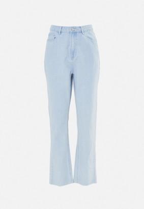Missguided Light Blue Wrath Highwaisted Straight Leg Jeans
