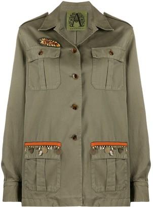 Alessandra Chamonix Embroidered Military Jacket
