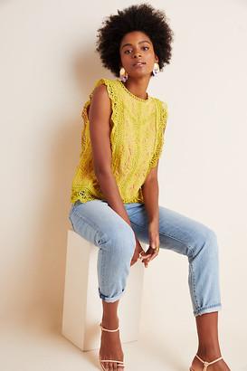 Eri + Ali Sydney Lace Blouse By in Beige Size XS