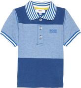 HUGO BOSS Block pattern cotton short sleeved polo shirt 6-36 months