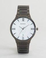 Sekonda Black Bracelet Watch With White Dial Exclusive To ASOS