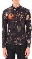 Valentino Cosmos-Print Button-Down Woven Shirt, Navy
