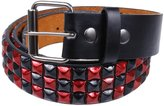 Old Glory & Red Studded Leather Belt