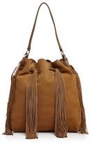 Loeffler Randall Large Suede Industry Shoulder Bag