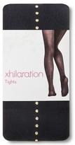 Xhilaration Women's Gold Stud Tights Black