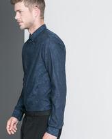 Zara Camouflage Jacquard Shirt