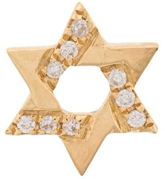 Loquet 18kt gold Diamond Star of David Charm necklace