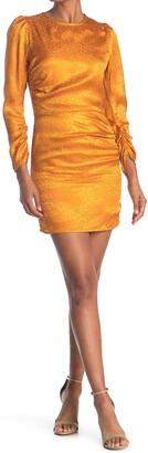 NSR Ines Ruched 3/4 Sleeve Mini Dress