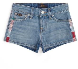 Ralph Lauren Kids Tape Detail Denim Shorts (7-16 Years)