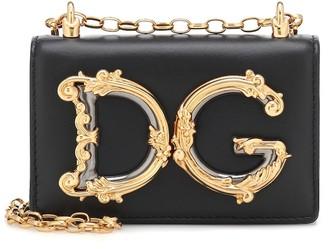 Dolce & Gabbana Girls Mini leather shoulder bag
