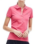 Lacoste Women's Short-Sleeve Stretch Pique Slim-Fit Polo Shirt