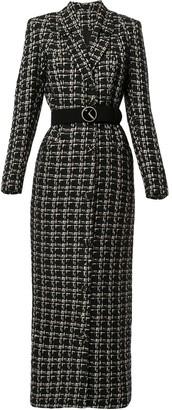 Saiid Kobeisy Woven Coat Dress