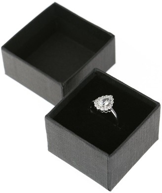 Sterling Silver Cubic Zirconia Halo Teardrop Ring
