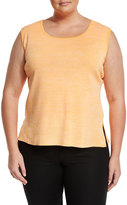 Ming Wang Scoop-Neck Knit Tank Top, Coral, Plus Size