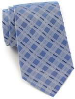 Calvin Klein Hi-Lo Plaid Slim Tie