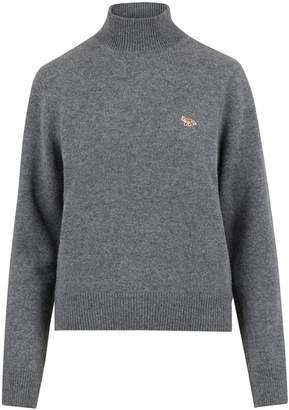 MAISON KITSUNÉ Woollen round-neck Fox sweatshirt