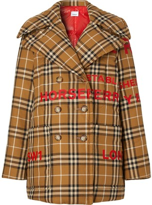 Burberry Horseferry Print Vintage Check peacoat