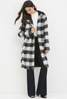 Forever 21 FOREVER 21+ Plaid Faux Shearling Coat