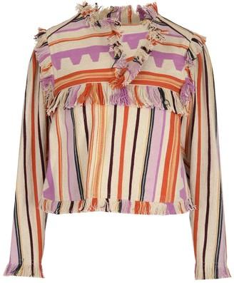 Isabel Marant Striped Cropped Jacket