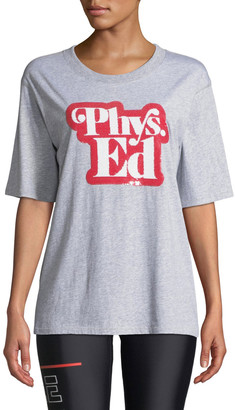 P.E Nation Charger Phys. Ed Sequined Graphic Tee