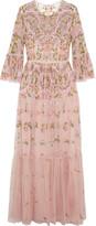 Needle & Thread Dragonfly Embellished Embroidered Tulle Maxi Dress - UK8