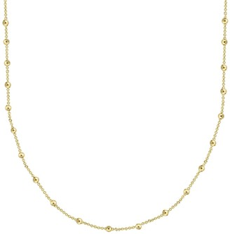 Savvy Cie 14K Yellow Gold Plated Sterling Silver Italian Rosary Bead Necklace