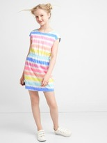 Gap Print cross-back cap dress