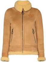 Thumbnail for your product : Off-White Aviator style shearling coat