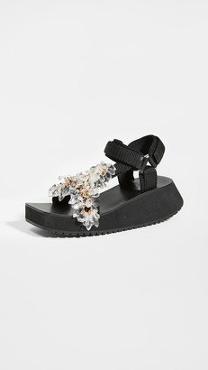 Tibi Ping Jeweled Sandals