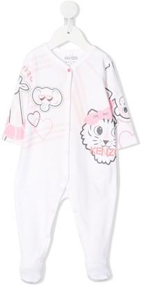 Kenzo Kids Animal Print Logo Babygrow