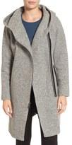 Andrew Marc Hooded Wool Blend Coat