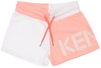 Kenzo Logo Print Cotton Blend Sweat Shorts