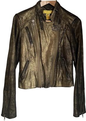 Catherine Malandrino Gold Leather Jacket for Women